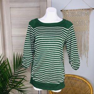 89th & Madison | Striped 3/4 Sleeve Sweater SZ S